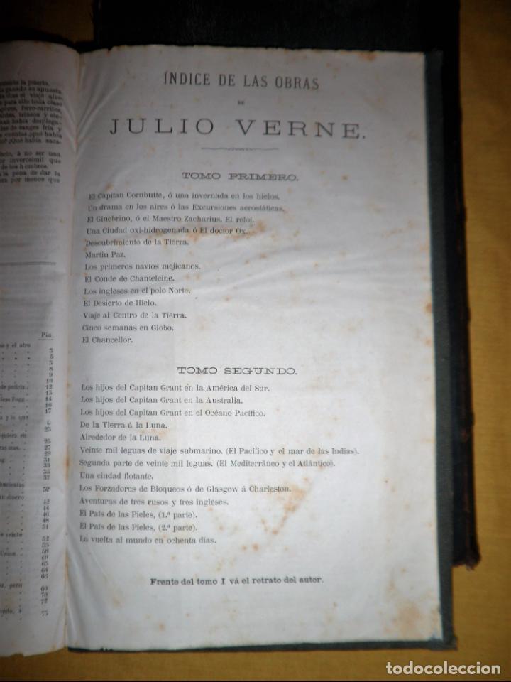 Libros antiguos: OBRAS COMPLETAS DE JULIO VERNE - 1ª EDICION ESPAÑOLA AÑO 1875 - ILUSTRADOS - EXCEPCIONAL. - Foto 28 - 143189410
