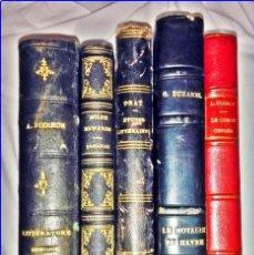 Libros antiguos: BONITO LOTE DE ELEGANTES LIBROS DEL SIGLO XIX-XX. LITERATURA, ZOOLOGÍA,.... Lote 143596334