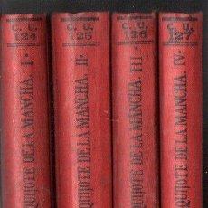 Libros antiguos: CERVANTES : DON QUIJOTE DE LA MANCHA - CUATRO TOMOS (CALPE, 1921 -1930). Lote 143602434