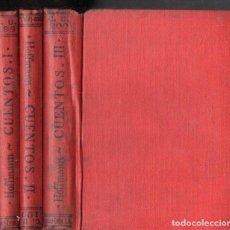 Libros antiguos: HOFFMANN : CUENTOS - NUEVE TOMOS EN TRES VOLÚMENES (CALPE, 1922). Lote 143610358
