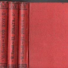 Livres anciens: WALTER SCOTT : ROB ROY / EL PIRATA - 4 TOMOS (CALPE 1923). Lote 143631542