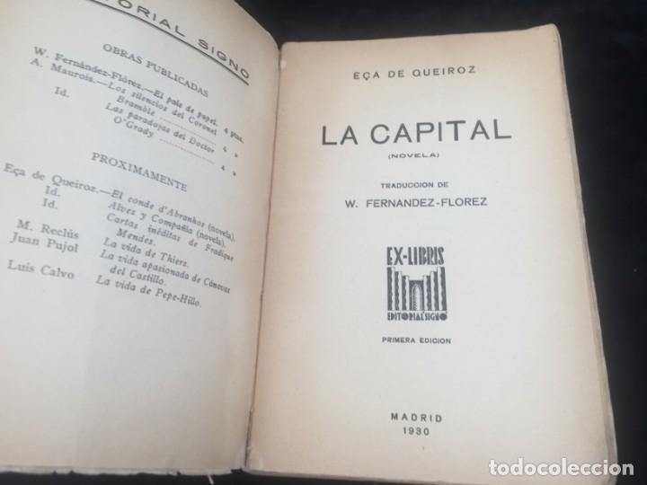 Libros antiguos: La Capital novela EÇA DE QUEIROZ, José María Editorial Signo 1930 - Foto 2 - 143684998