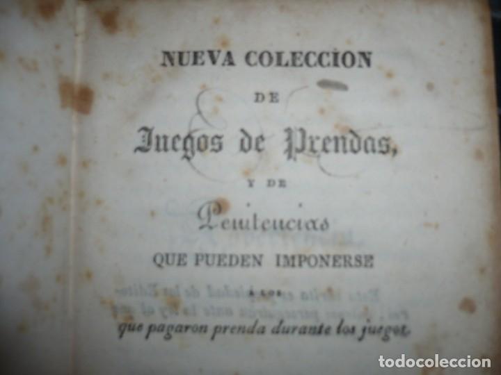 Alte Bücher: NUEVA COLECCION DE 84 JUEGOS DE PRENDAS 1837 BARCELONA - Foto 3 - 144055806