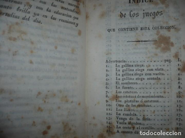 Alte Bücher: NUEVA COLECCION DE 84 JUEGOS DE PRENDAS 1837 BARCELONA - Foto 6 - 144055806