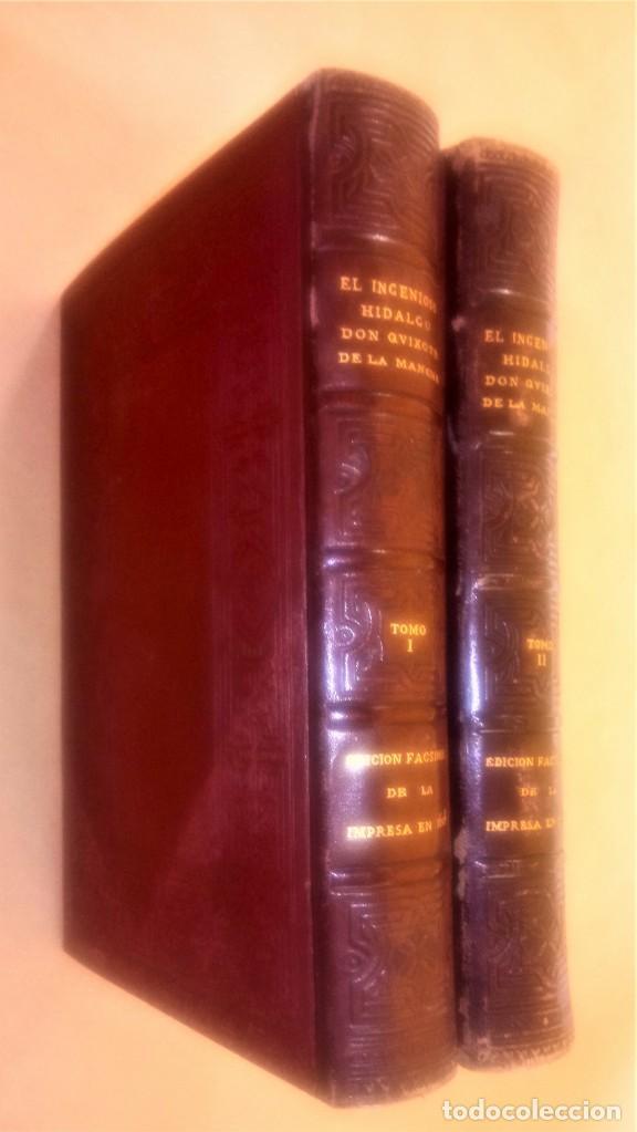 II TOMOS DON QUIJOTE DE LA MANCHA PRIMERA EDICION 1608 Y 1615,PRIMERA EDICION FACSIMIL1897,CERVANTES (Libros antiguos (hasta 1936), raros y curiosos - Literatura - Narrativa - Clásicos)
