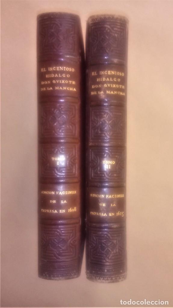Libros antiguos: II TOMOS DON QUIJOTE DE LA MANCHA PRIMERA EDICION 1608 Y 1615,PRIMERA EDICION FACSIMIL1897,CERVANTES - Foto 2 - 144751742