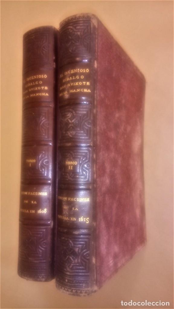 Libros antiguos: II TOMOS DON QUIJOTE DE LA MANCHA PRIMERA EDICION 1608 Y 1615,PRIMERA EDICION FACSIMIL1897,CERVANTES - Foto 3 - 144751742