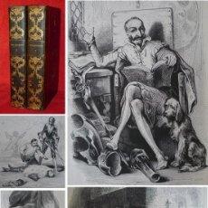Libros antiguos: AÑO 1836 - 27 CM - DON QUIJOTE DE LA MANCHA - COMPLETO - 800 GRABADOS - ILUSTRADO POR TONY JOHANNOT. Lote 146316950