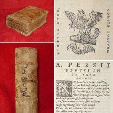 Libros antiguos: AÑO 1546 - TRES POST INCUNABLES COMPLETOS - 1) MARCIAL, 2) LUCANO Y AULO PERSIO, 3) CATULO- GRABADOS. Lote 146462346
