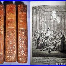 Libros antiguos: AÑO 1768: DON QUIJOTE DE LA MANCHA. 3 TOMOS ILUSTRADOS DEL SIGLO XVIII.. Lote 151137273