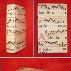 Libros antiguos: AÑO 1775 - PRECIOSA ENCUADERNACIÓN EN ANTIFONARIO ANTIGUO A DOS TINTAS - EJEMPLAR SINGULAR - CICERON. Lote 147950314