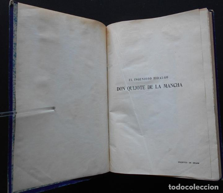 Libros antiguos: PCBROS - DON QUIJOTE DE LA MANCHA - M. DE CERVANTES S. - ED. MAUCCI - 683 GRABADOS AL BOJ - 599 PÁGS - Foto 3 - 147979266