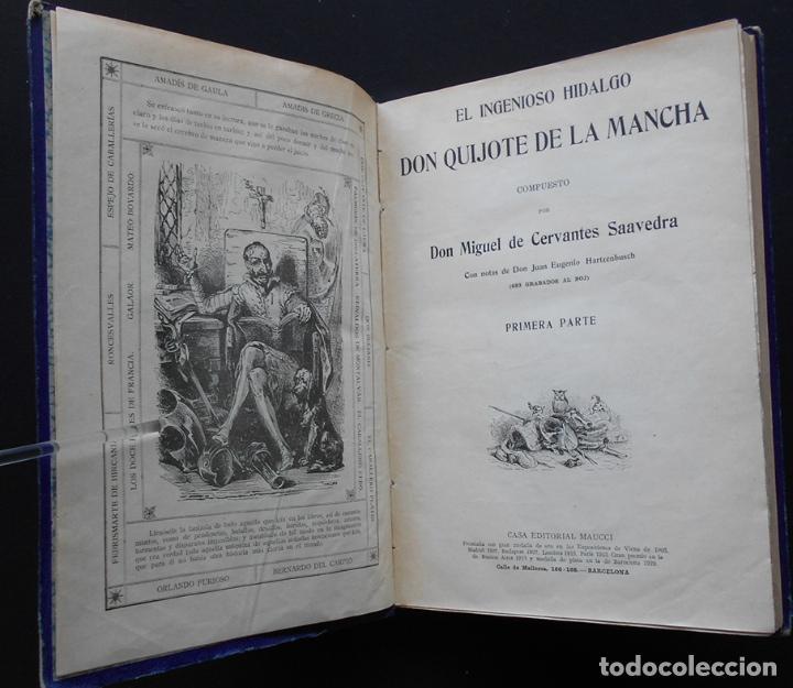 Libros antiguos: PCBROS - DON QUIJOTE DE LA MANCHA - M. DE CERVANTES S. - ED. MAUCCI - 683 GRABADOS AL BOJ - 599 PÁGS - Foto 4 - 147979266