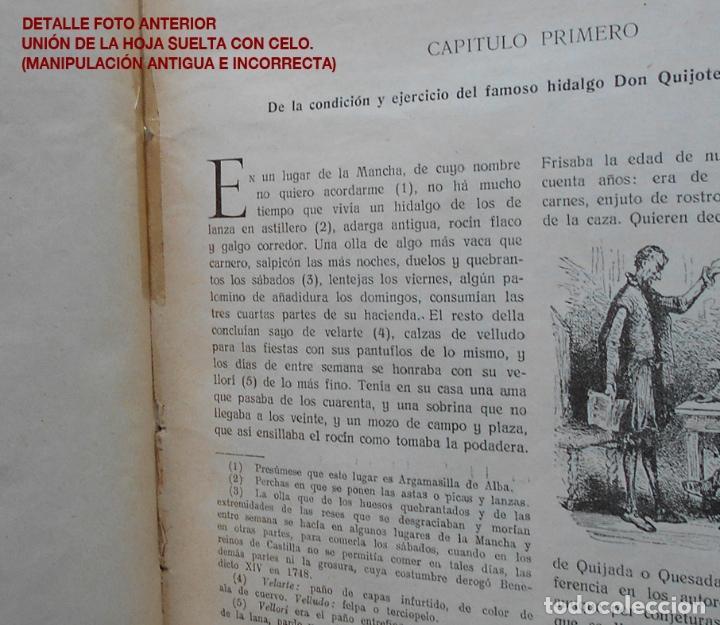Libros antiguos: PCBROS - DON QUIJOTE DE LA MANCHA - M. DE CERVANTES S. - ED. MAUCCI - 683 GRABADOS AL BOJ - 599 PÁGS - Foto 10 - 147979266