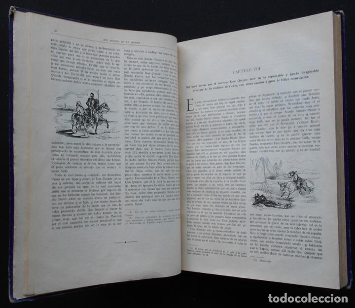 Libros antiguos: PCBROS - DON QUIJOTE DE LA MANCHA - M. DE CERVANTES S. - ED. MAUCCI - 683 GRABADOS AL BOJ - 599 PÁGS - Foto 11 - 147979266