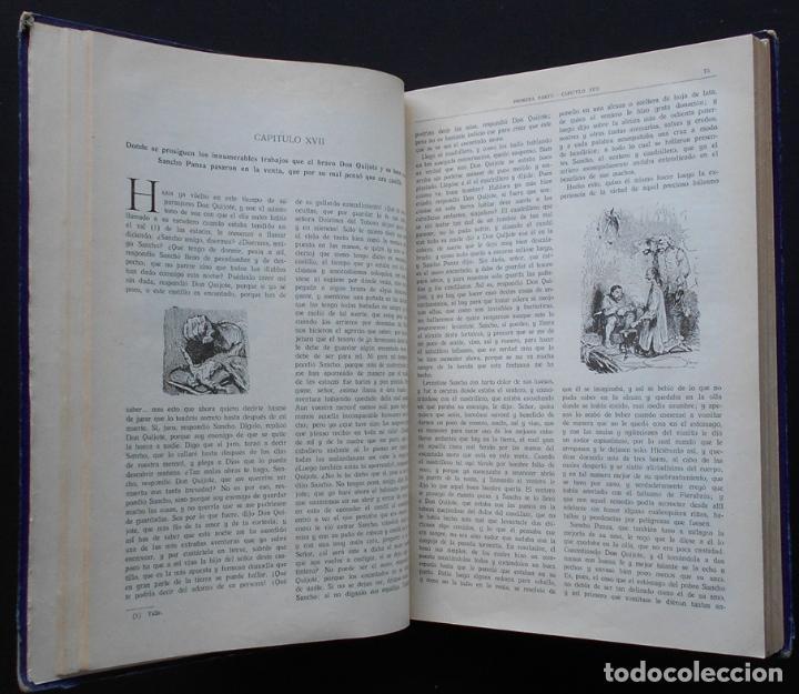 Libros antiguos: PCBROS - DON QUIJOTE DE LA MANCHA - M. DE CERVANTES S. - ED. MAUCCI - 683 GRABADOS AL BOJ - 599 PÁGS - Foto 12 - 147979266