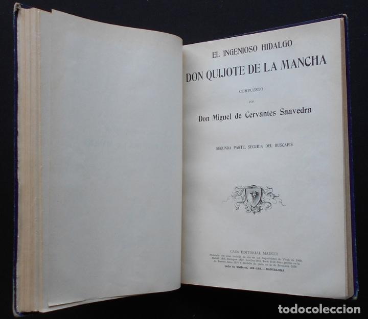 Libros antiguos: PCBROS - DON QUIJOTE DE LA MANCHA - M. DE CERVANTES S. - ED. MAUCCI - 683 GRABADOS AL BOJ - 599 PÁGS - Foto 20 - 147979266