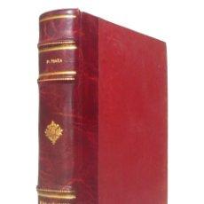 Libros antiguos: 1923 - PEDRO MATA: UNA AVENTURA DEMASIADO FÁCIL MADRID, EDITORIAL PUEYO - ENCUADERNACIÓN, PIEL. Lote 147995294