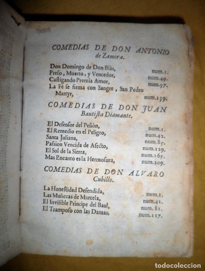 Libros antiguos: AMENO JARDIN DE COMEDIAS - AÑO 1734 - COMEDIAS SIGLO DE ORO ESPAÑOL - PERGAMINO·MUY RARO. - Foto 5 - 148475150