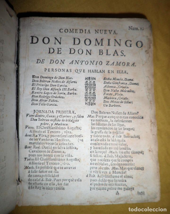 Libros antiguos: AMENO JARDIN DE COMEDIAS - AÑO 1734 - COMEDIAS SIGLO DE ORO ESPAÑOL - PERGAMINO·MUY RARO. - Foto 6 - 148475150