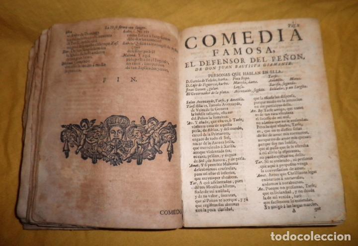 Libros antiguos: AMENO JARDIN DE COMEDIAS - AÑO 1734 - COMEDIAS SIGLO DE ORO ESPAÑOL - PERGAMINO·MUY RARO. - Foto 7 - 148475150