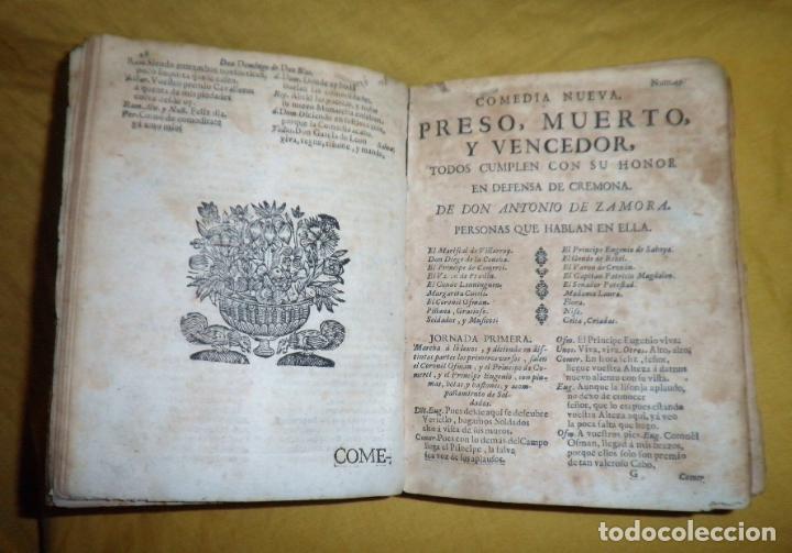 Libros antiguos: AMENO JARDIN DE COMEDIAS - AÑO 1734 - COMEDIAS SIGLO DE ORO ESPAÑOL - PERGAMINO·MUY RARO. - Foto 8 - 148475150