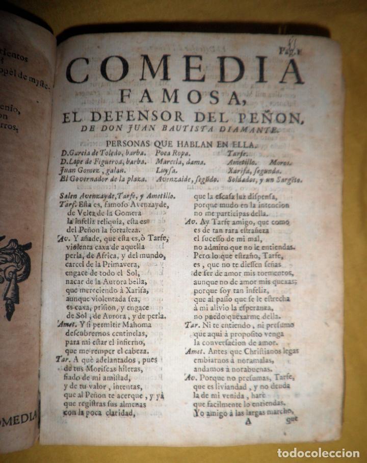 Libros antiguos: AMENO JARDIN DE COMEDIAS - AÑO 1734 - COMEDIAS SIGLO DE ORO ESPAÑOL - PERGAMINO·MUY RARO. - Foto 10 - 148475150