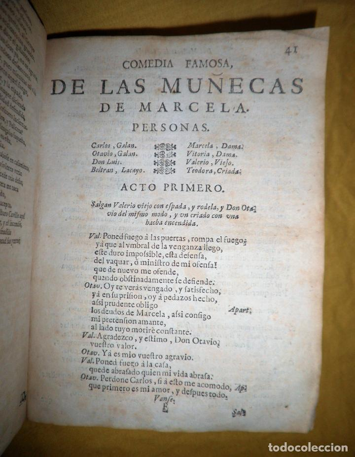 Libros antiguos: AMENO JARDIN DE COMEDIAS - AÑO 1734 - COMEDIAS SIGLO DE ORO ESPAÑOL - PERGAMINO·MUY RARO. - Foto 11 - 148475150