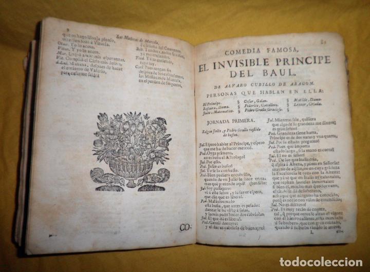 Libros antiguos: AMENO JARDIN DE COMEDIAS - AÑO 1734 - COMEDIAS SIGLO DE ORO ESPAÑOL - PERGAMINO·MUY RARO. - Foto 12 - 148475150