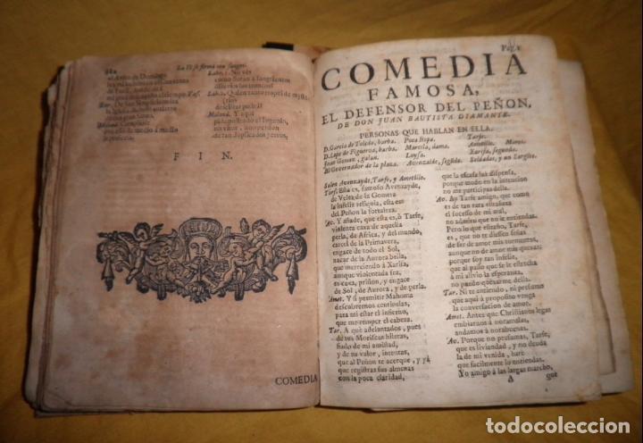 Libros antiguos: AMENO JARDIN DE COMEDIAS - AÑO 1734 - COMEDIAS SIGLO DE ORO ESPAÑOL - PERGAMINO·MUY RARO. - Foto 13 - 148475150