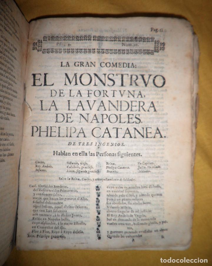 Libros antiguos: AMENO JARDIN DE COMEDIAS - AÑO 1734 - COMEDIAS SIGLO DE ORO ESPAÑOL - PERGAMINO·MUY RARO. - Foto 17 - 148475150