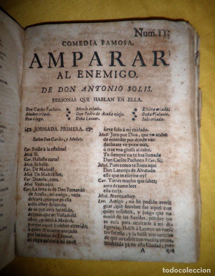 Libros antiguos: AMENO JARDIN DE COMEDIAS - AÑO 1734 - COMEDIAS SIGLO DE ORO ESPAÑOL - PERGAMINO·MUY RARO. - Foto 21 - 148475150