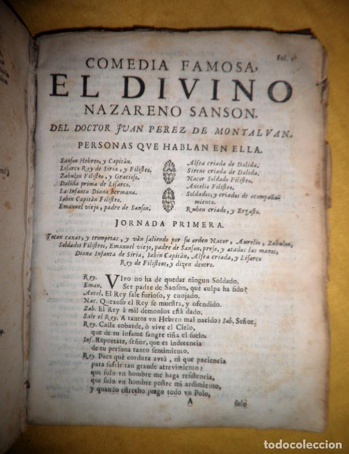 Libros antiguos: AMENO JARDIN DE COMEDIAS - AÑO 1734 - COMEDIAS SIGLO DE ORO ESPAÑOL - PERGAMINO·MUY RARO. - Foto 23 - 148475150