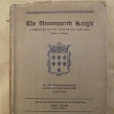 Libros antiguos: THE UNCONQUERED KNIGHT COUNT OF BUELMA - JOAN EVANS - BRODWAY MEDIEVAL LIBRARY 1928. Lote 148959950