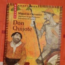 Libros antiguos: DON QUIJOTE MIGUEL DE CERVANTES ADAPTACION DE AGUSTIN SANCHEZ AGUILAR. Lote 149048414