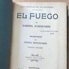 Libri antichi: D' ANNUNZIO, GABRIEL: EL FUEGO EN 2 TOMOS - AÑOS 20. Lote 149183298
