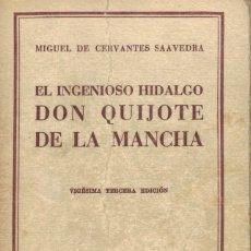 Livres anciens: CERVANTES, EL INGENIOSO HIDALGO DON QUIJOTE DE LA MANCHA. Lote 140676630