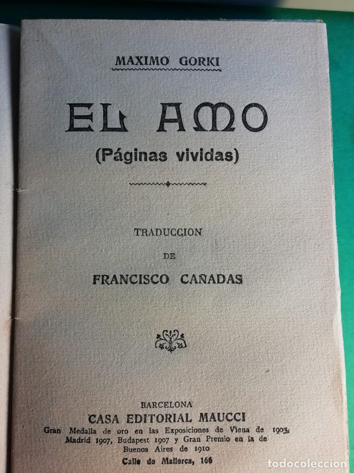 Libros antiguos: EL AMO POR MAXIMO GORKI EDIT.1910 - Foto 2 - 149968826
