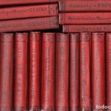 Libros antiguos: 21 TOMOS OBRAS LITERARIAS EN CASTELLANO.. CELESTINA, QUEVEDO, EL CID, MARTIN FIERRO.(CALPE, C. 1925). Lote 150248498