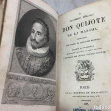 Libros antiguos: EL INGENIOSO HIDALGO DON QUIJOTE DE LA MANCHA. EDICIÓN EN MINIATURA JULIO DIDOT 1827 PARIS. Lote 151311014