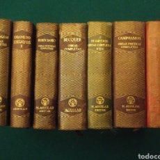 Libros antiguos: LOTE AGUILAR. 7 LIBROS. JOYA. CAMPOAMOR, DARIO, FLOREZ, BENAVENTE, BECQUER, GALAN, UNAMUNO.. Lote 151459497