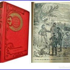 Libros antiguos: JULIO VERNE: LA ISLA MISTERIOSA. LIBRO ILUSTRADO DE CASI 100 AÑOS DE ANTIGÜEDAD.. Lote 151599446