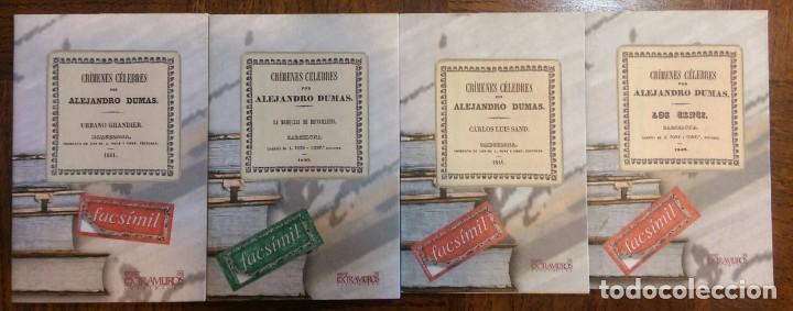 4 LIBROS FACSÍMILES. CRÍMENES CÉLEBRES, DE ALEJANDRO DUMAS (1840-1841) (Libros antiguos (hasta 1936), raros y curiosos - Literatura - Narrativa - Clásicos)