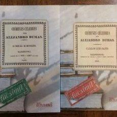 Libros antiguos: 4 LIBROS FACSÍMILES. CRÍMENES CÉLEBRES, DE ALEJANDRO DUMAS (1840-1841). Lote 151601886