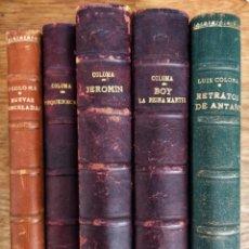 Libros antiguos: MARAVILLOSO LOTE DE CINCO LIBROS DE P. LUIS COLOMA. Lote 151976338