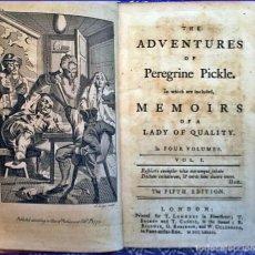 Libros antiguos: AÑO 1773: LAS AVENTURAS PEREGRINE PICKLE. EL CLÁSICO DEL SIGLO XVIII DE TOBIAS SMOLLETT.. Lote 152174034