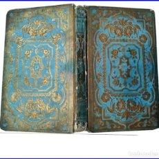 Libros antiguos: AÑO 1858: LIBRO DEL SIGLO CON CURIOSA ENCUADERNACIÓN.. Lote 152177974