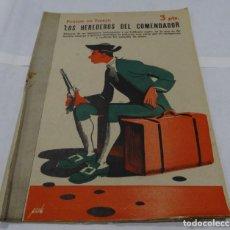 Libros antiguos: LOS HEREDEROS DL COMENDADOR- PONSON DU TERRAIL- MANOLO PRIETO DISEÑADOR GRAFICO DEL TORO OSBORNE. Lote 152284662