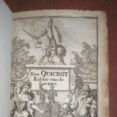 Libros antiguos: CERVANTES: DER VERSTANDIGEN VROOMEN RIDDER, DON QUICHOT DE LA MANCHA. QUIJOTE 1696. Lote 50289204