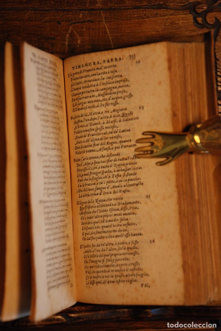 Libros antiguos: ORLANDO FURIOSO - M. LUDOVICO ARIOSTO - IN LYONE - APRESSO GUGLIEL - 1570 - PERGAMINO - GRABADOS - - Foto 6 - 152814850